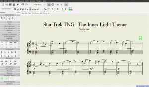 Screenshot MuseScore - Star Trek TNG The Inner Light Theme